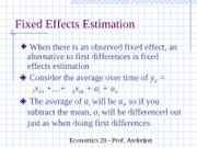 ch14Fixed Effects Estimation