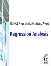 Session 7 - Regression Analysis