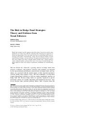 The Risk in Hedge Fund Strategies: Theory and Evidence from Trend Followers
