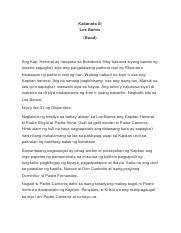 FILIPINO KABANATA 19 - Kabanata XIX ANG MITSA I Talasalitaan