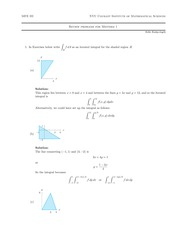 Review for Midterm II Solutions