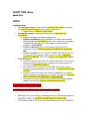 MGMT 1000 EXAM NOTES (FLIP) (Usman's conflicted copy 2013-10-21)