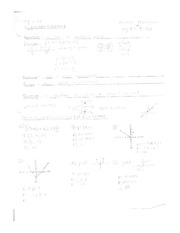 Algebra 2 AE Relations and Functions