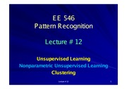 EE546_L12 - Unsupervised Learning - Nonparametric UL - Clustering
