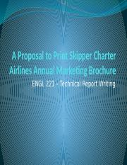 A Proposal to Print Skipper Charter Airlines Annual.pptx
