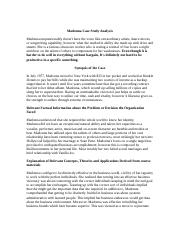 madona business case study However madona should note that under the new provisions a person seeking access to company law case study analysis affiliation business law constitutes a.