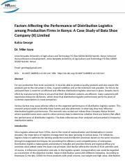 Factors_Affecting_The_Performance_Of_Distribution_Logistics_Among_Production_Firms_In_Kenya