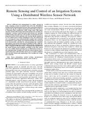 Remote Sensing and Control of an Irrigation System using a dsitrbuted wireless sensor network