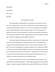 narrative essay on family vacation personal narrative essay about my family 1218 words personal essay vacation and family conflict narrative essay on family vacation a memorable