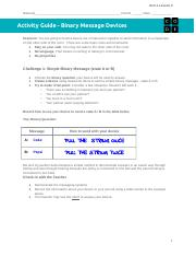Copy of U1L02 Activity - Binary Message Devices