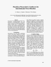 2005, Polysilicon piezoresistive cantilevers for intermolecular force detection.pdf