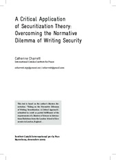 A Critical Application  of Securitization Theory