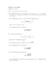 Calculus Test 1