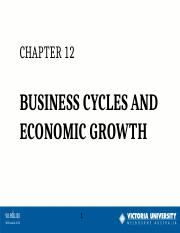Week 8  Business Cycles & Economic Growth e-l S2 2015