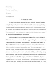 George Creel and Racial Stereotypes Paper