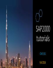 CIVE351_SAP2000 tutorial 1