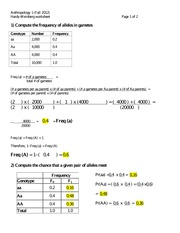 answer key hardy weinberg worksheet 1 generation into the equation given in part 1 above hint. Black Bedroom Furniture Sets. Home Design Ideas