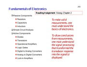 Lecture 7 - Supplementary Material on Basic Electronics