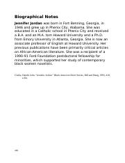 Biographical Notes - Jennifer Jordan