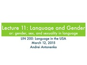 11. Language and Gender