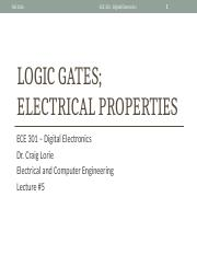Lecture 5 - Logic Gates and Electrical Properties