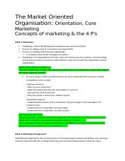 Week1 - The Market Oriented Organisation.docx