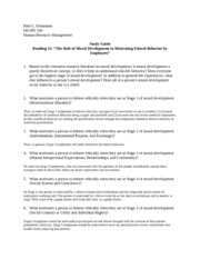 MGMT 340 Study Guide for Reading 2