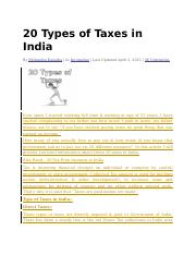 20 Types of Taxes in India.docx