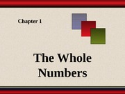 Chapter 1 - Whole Numbers (1)