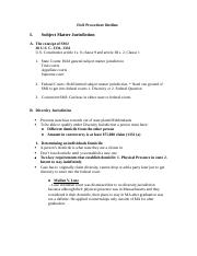 Civil Procedure Outline 1