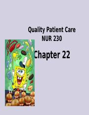 22NUR230 Quality Patient Care