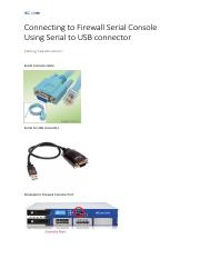 Connecting to Firewall Serial Console Using Serial to USB connector.pdf