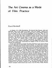 Bordwell Art Cinema 1 Pdf The Art Cinema As A Mode Of Film Practice David Bordwell La Strada 8 112 Wud Strawberries The Seventh Seal Persona Ashes Course Hero