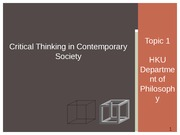 Critical Thinking 2014_15 SEM 1 Lecture 01