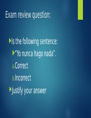 FINAL EXAM review Fall 2016