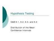 09 Hypothesis Testing