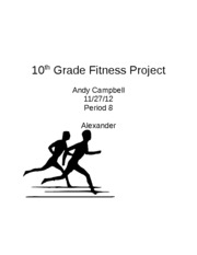 10th Grade Fitness Project