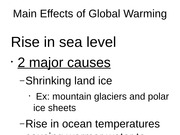 global warming earth powerpoint