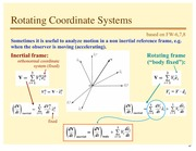 Lecture Notes on Rotating Coordinate Systems