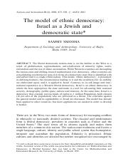 Smooha - Israel as Ethnic Democracy.pdf