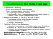 Chapter 12-The Thirty Years War
