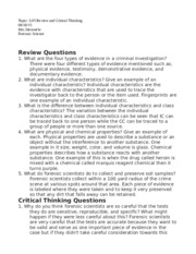 3.05 Review and Critical Thinking