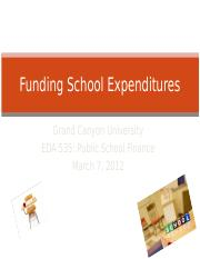 Funding School Expenditures