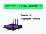 Ch13 Aggregate Planning Lecture Notes 2009