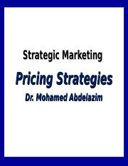 8- Pricing strategies