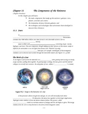 The Components of the Universe cont2