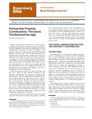Partnership Property Contributions The Good The Bad and the Ugly.pdf