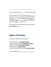 Types of Society Mode of Production