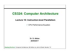 10. Instruction-level Parallelism- CPU Performance Equation.pdf