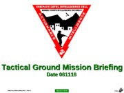 (CLNC Edit)J - usmc (CLIC-SOP) Tactical Ground Mission Briefing - PPT (081110) (NXPowerLite)